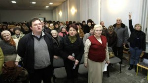 Zebranie nielegalnego Związku Polaków